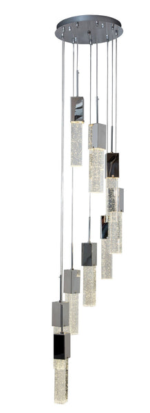 Finesse Lighting- Falling Sparkling Night- 8 Pendant Flush