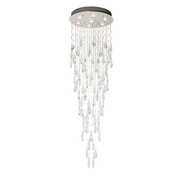 Finesse Lighting, Floating Crystal Drops- Flush Lamp