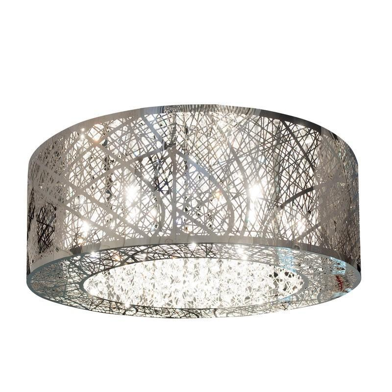 Finesse Lighting- Grand Vintage Enlaced Crystal Beads- Flush