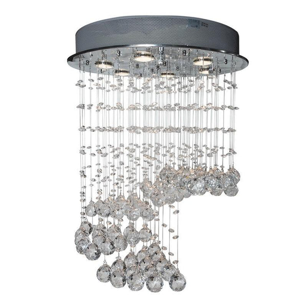 Finesse Lighting-Petit Cystal Waterfall- Flush