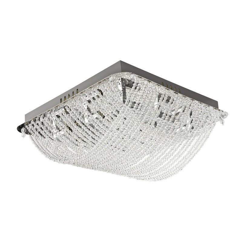 Finesse Lighting- Petit Vintage Enlaced Crystal Beads- Flush