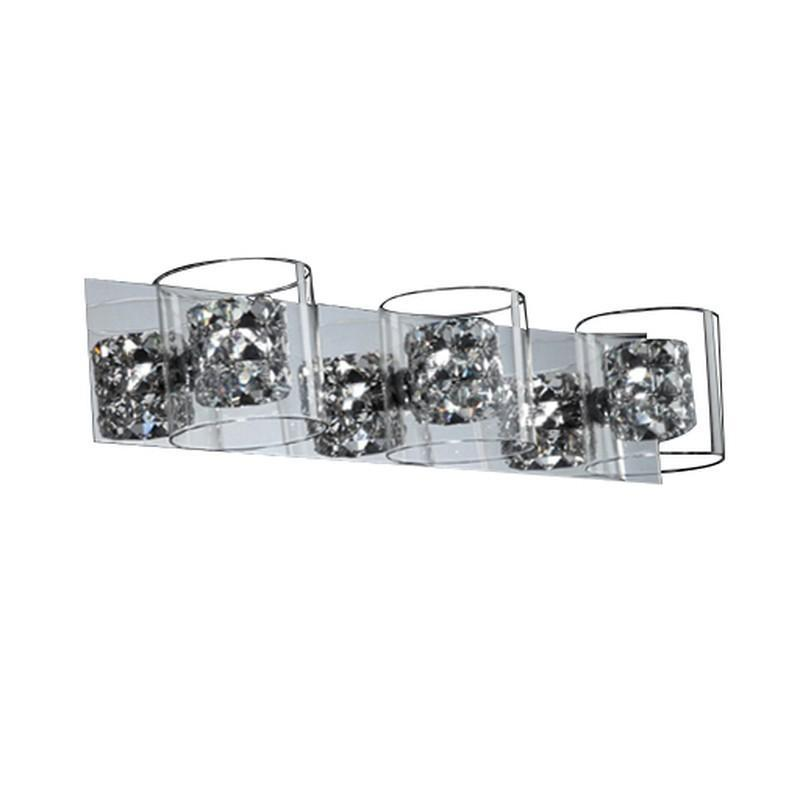 Finesse Lighting- Vintage Chrome Vanity- 3 lights