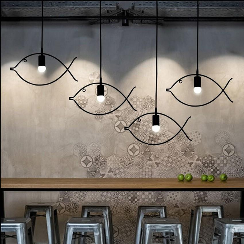 FISH FISH Industrial Pendant Lights at Lifeix Design