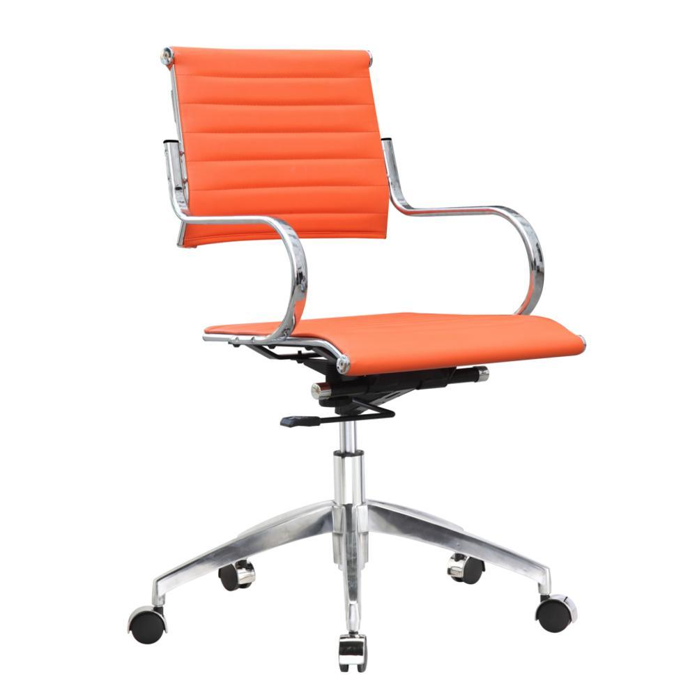 Orange Flees Office Chair Mid Back