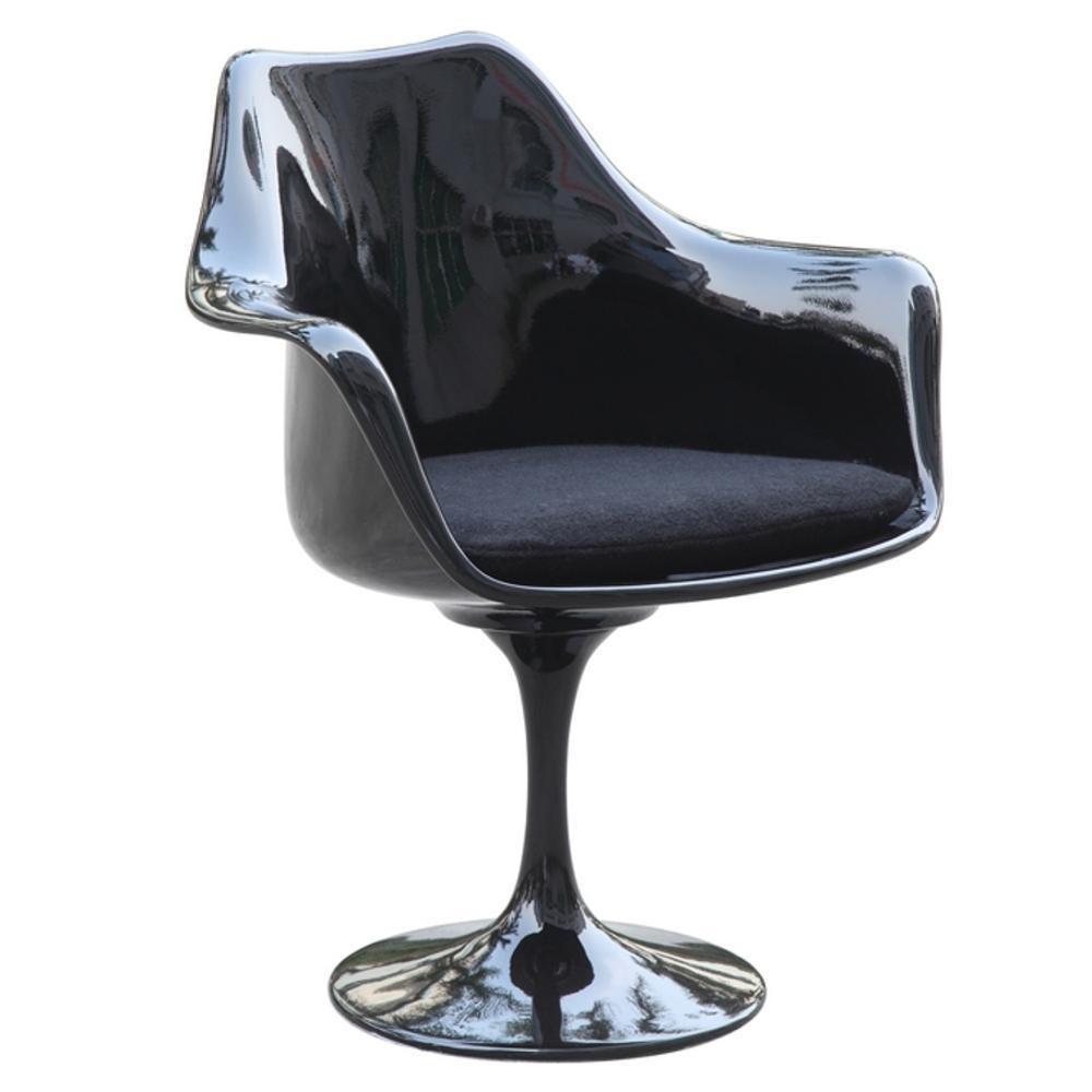 Black Flower Arm Chair