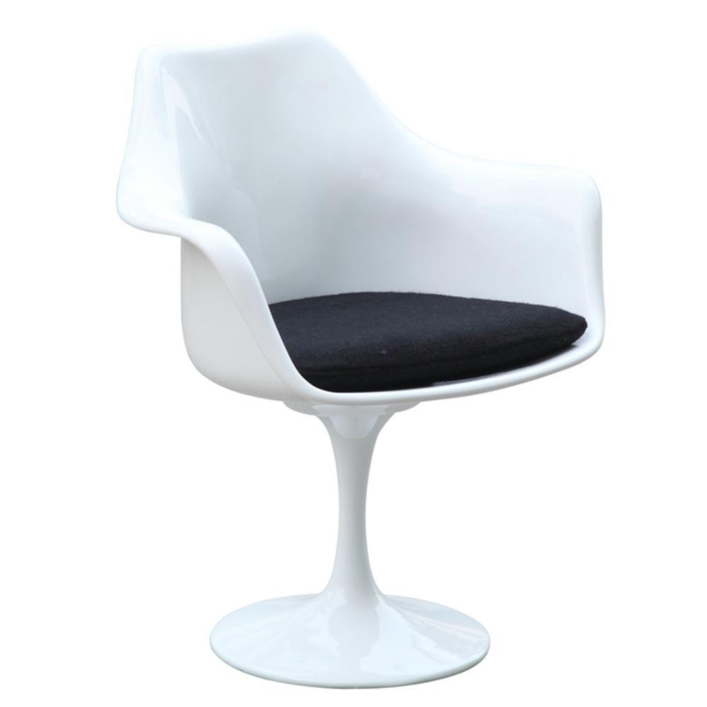 White Flower Arm Chair