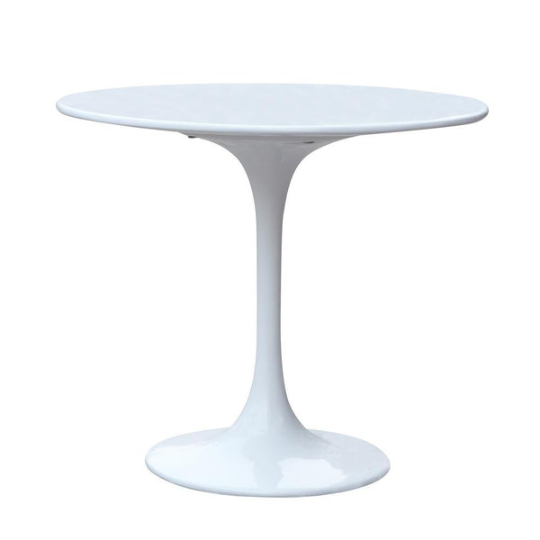White Flower End Side Table