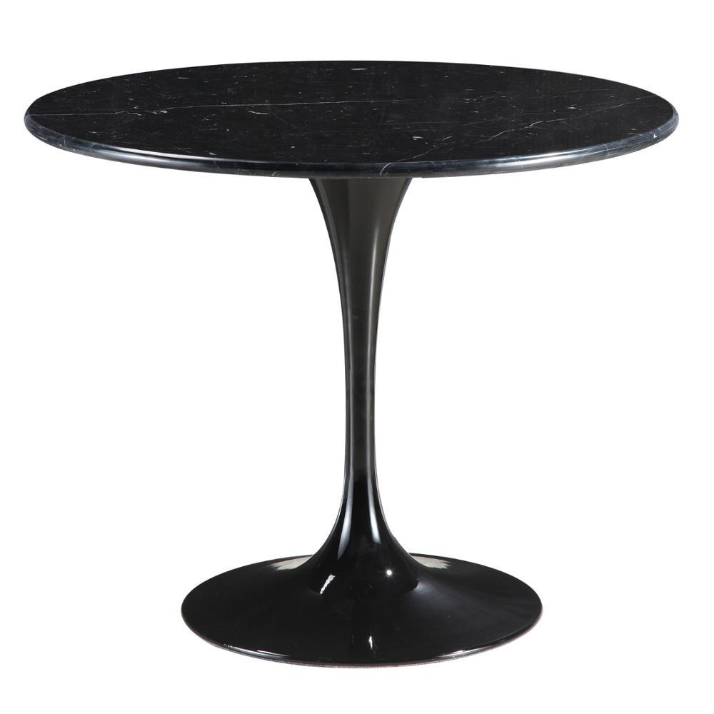 Black Flower Marble Table 48""
