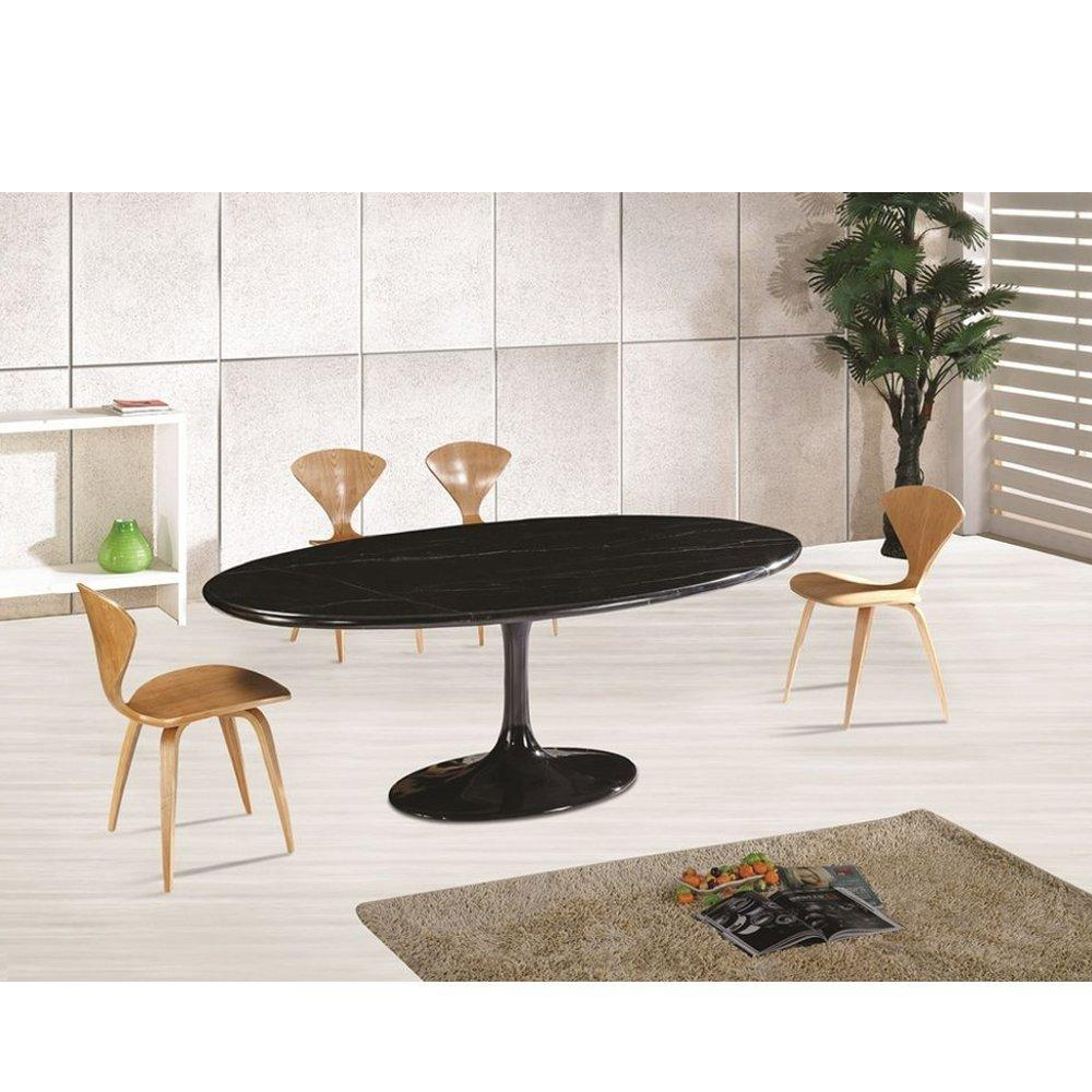 Flower Marble Table Oval 78""