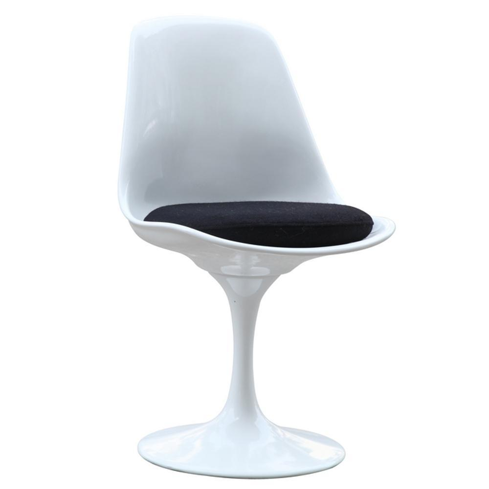 White Flower Side Chair