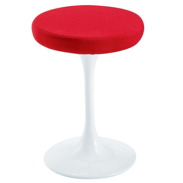 Red Flower Stool Chair 25""