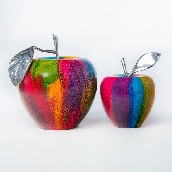 Forbiden Apples- In color- 100% handcrafted Set of two
