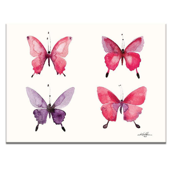 "Artwork 16x20x1.5"" Four Butterflies 11 Artwork by Kathy Morton Stanion"