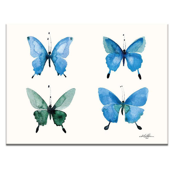 "Artwork 16x20x1.5"" Four Butterflies 13 Artwork by Kathy Morton Stanion"