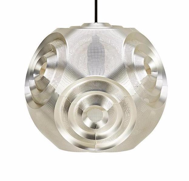 Futuristic Stainless Steel Globe Pendant Light at Lifeix Design