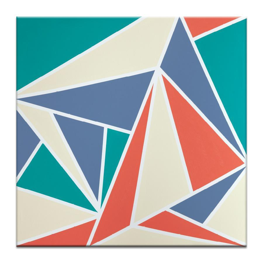 "Artwork 16x16x1.5"" Geometric 10 Artwork by Chalie MacRae"