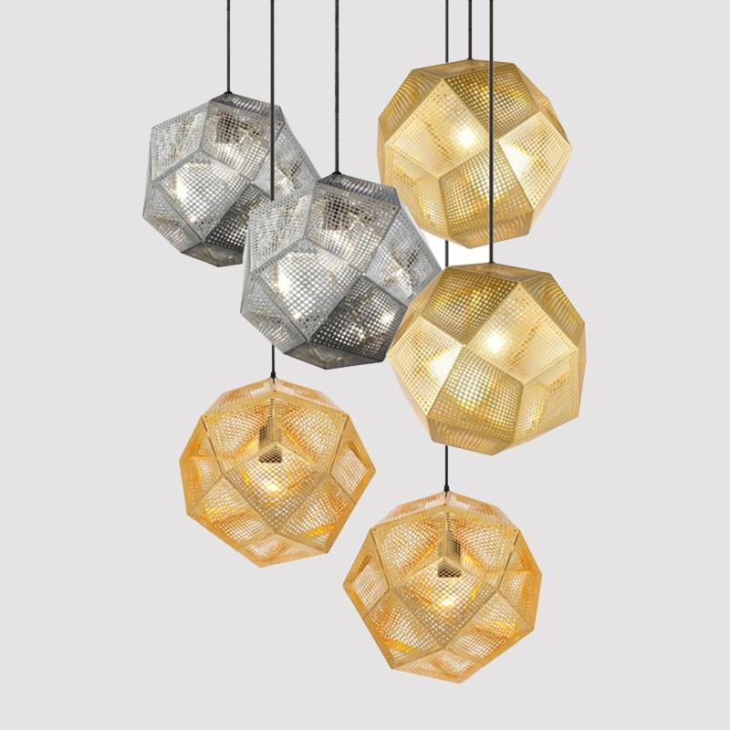 Buy Geometric Globe Metal Mesh Gold Silver Industrial ...