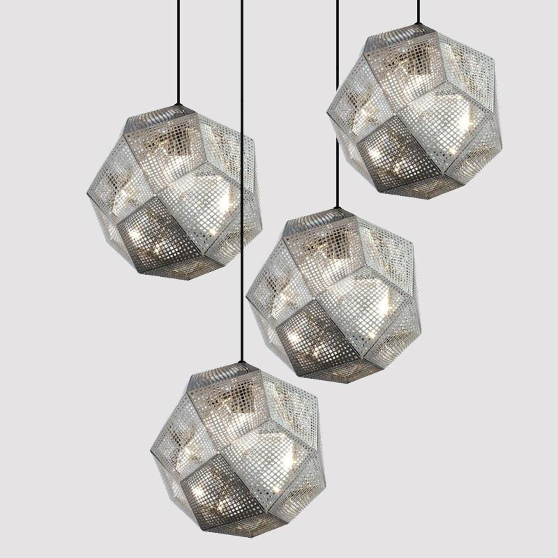 Buy Industrial Style Pendant Lamp And Wall Light At Lifeix: Buy Geometric Globe Metal Mesh Gold Silver Industrial