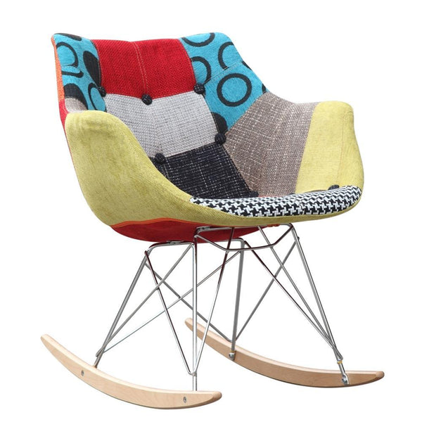 Multi Colored Ginger Rocker Arm Chair