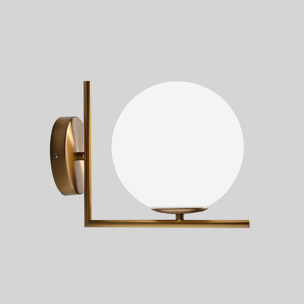 Glass Globe Modern Wall Light at Lifeix Design