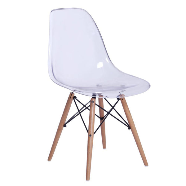 Transparent GlossWood Dining Side Chair