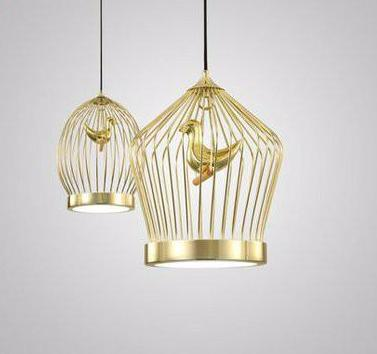 Gold Bird Cage Pendant Light at Lifeix Design