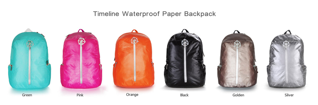 Backpack Gold-TIMELINE Waterproof Paper Backpack by Lifeix