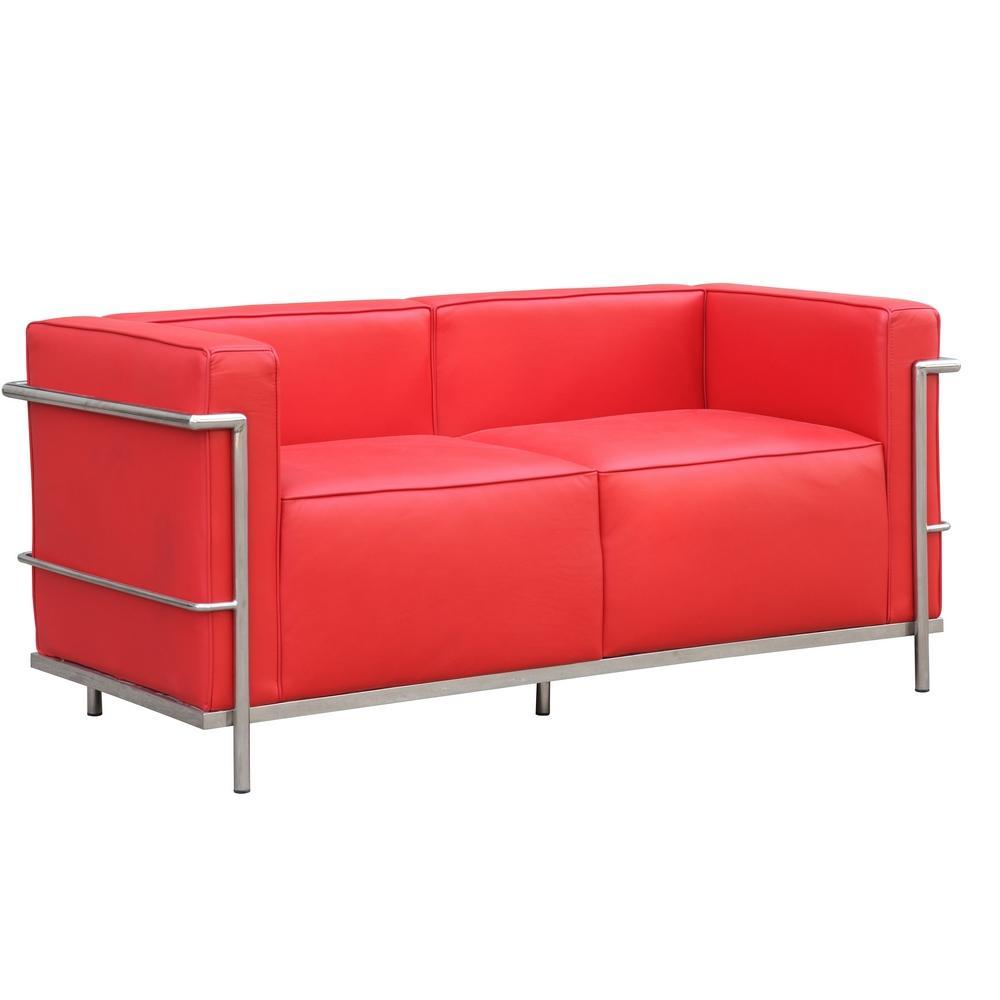 Red Grand Lc3 Loveseat