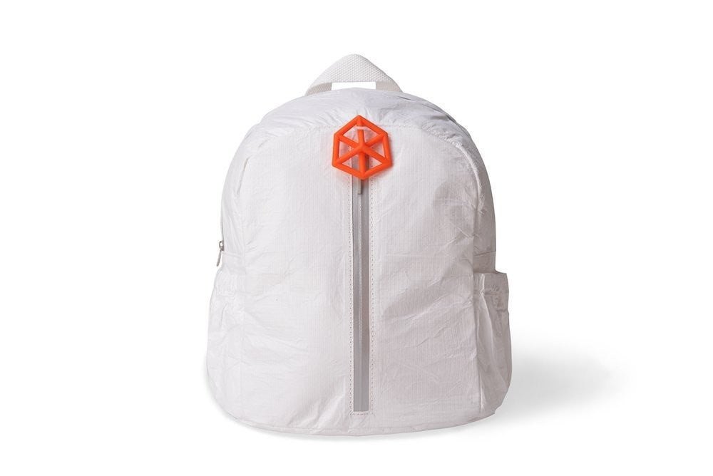 Backpack White Green-CUTIE Kids Backpack Paper Made, Waterproof, Tear Proof by Lifeix