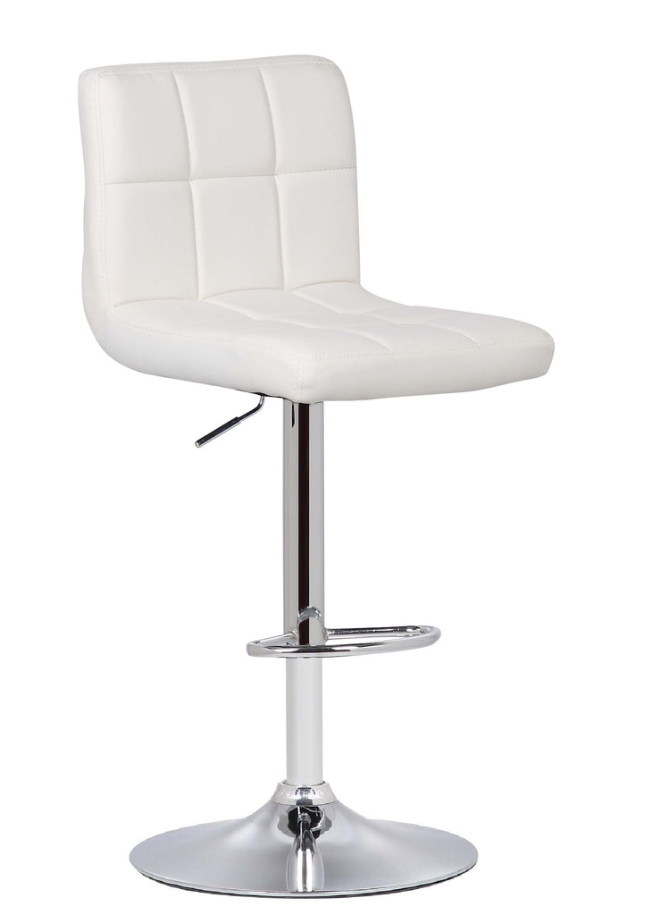 Bar Stool White Griffin Adjustable Barstool (Set of 2)