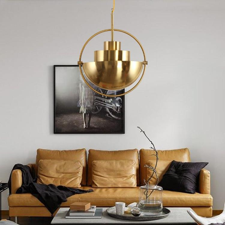 Buy Industrial Style Pendant Lamp And Wall Light At Lifeix: Buy Half-Sphere Industrial Style Gold Pendant Light At
