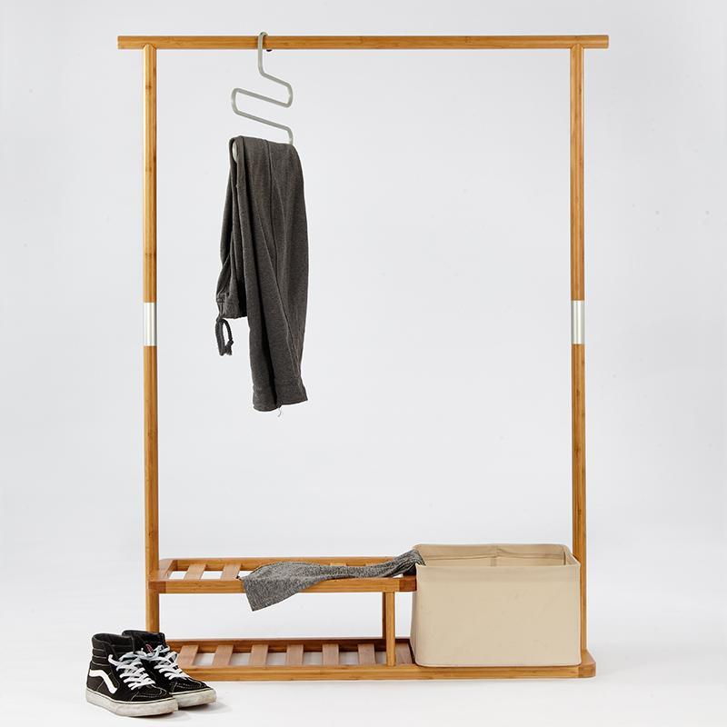 HAPPY TIME Natural Bamboo Multi-function Coat Rack at Lifeix Design