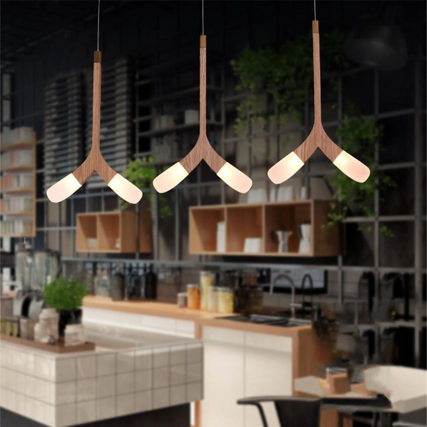 Herringbone LED Wooden Pendant Lights at Lifeix Design