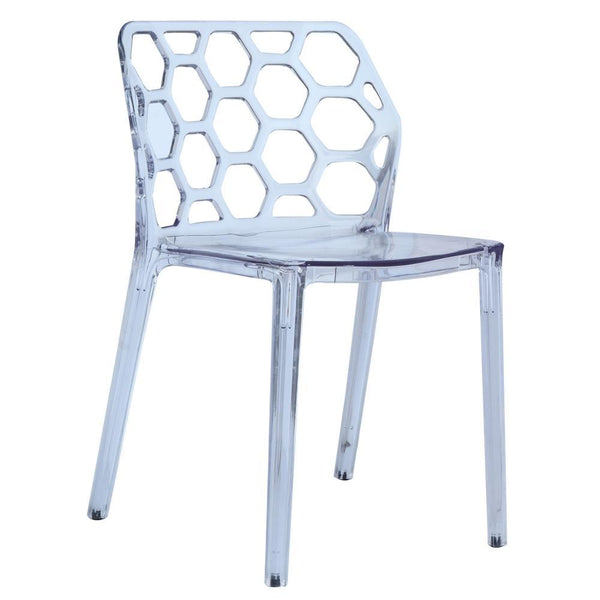 Clear Honeycomb Dining Chair