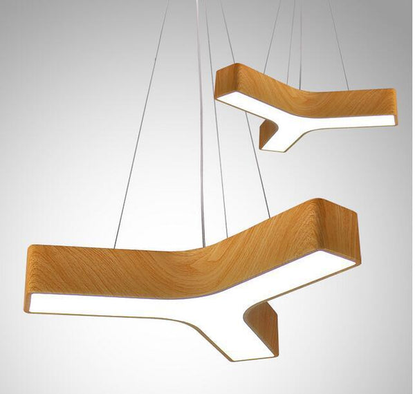 Imitative Wood Y-shape LED Pendant Light Unit for Creative Combination at Lifeix Design
