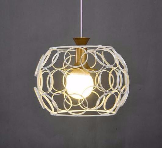 Industrial Chandelier - Hollow Sphere With Circle Edges at Lifeix Design