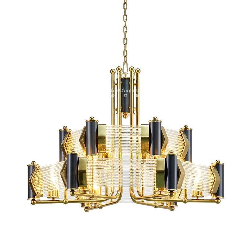 Industrial Modern Metal Pendant Light in Black and Gold at Lifeix Design