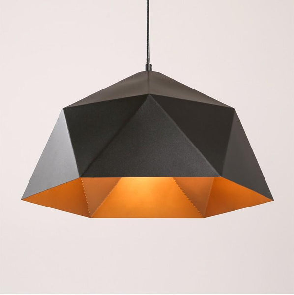 Industrial Retro Geometric Aluminum Pendant Light at Lifeix Design