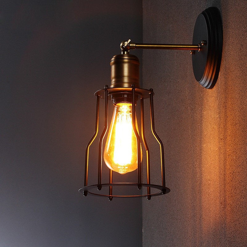 industrial look lighting. Wall Light Industrial Style Vintage Lamp Look Lighting E