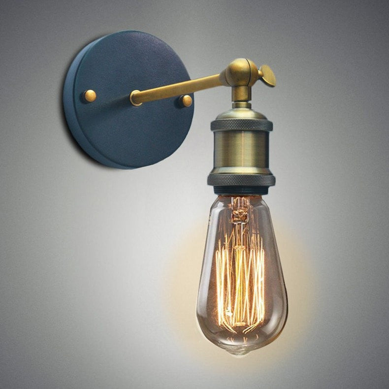 Industrial Style Wall Lamp with Adjustable Knob for $29.99 at Lifeix Design LLC
