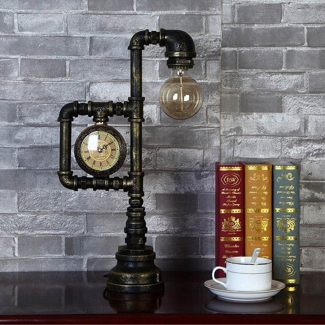 table lamp Default Title Industrial Table Lamp-Creative Loft Style