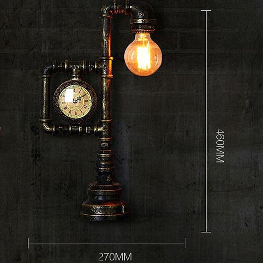 table lamp Industrial Table Lamp-Creative Loft Style