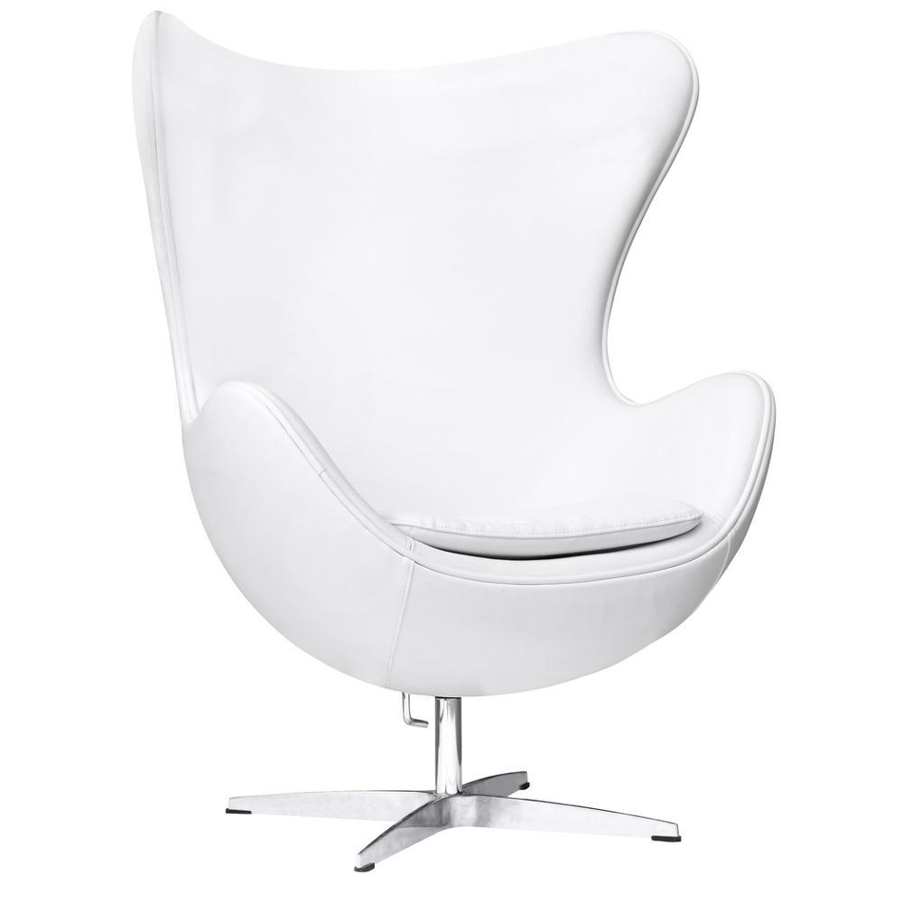 White Inner Chair Leather