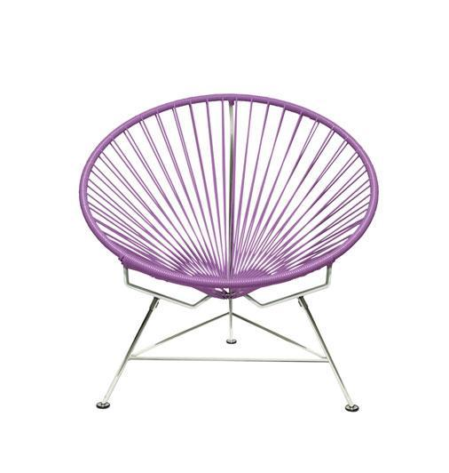 Outdoor Lounge Chair Orchid Weave on Chrome Frame Innit Chair on Chrome Frame