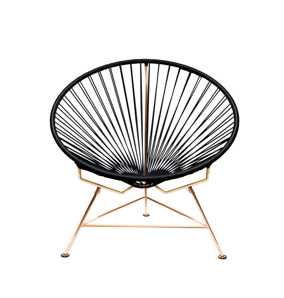Outdoor Lounge Chair Black Weave on Copper Frame Innit Chair on Copper Frame
