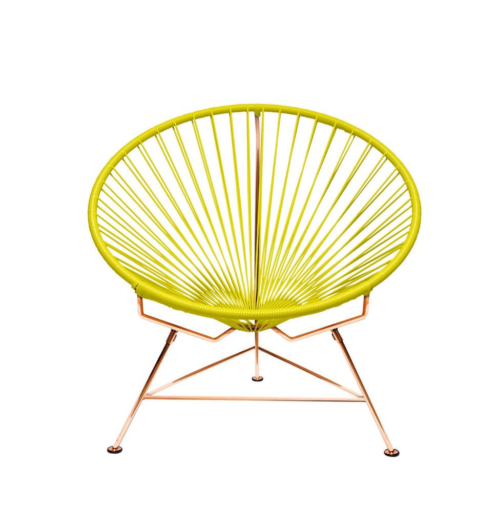 Outdoor Lounge Chair Yellow Weave on Copper Frame Innit Chair on Copper Frame