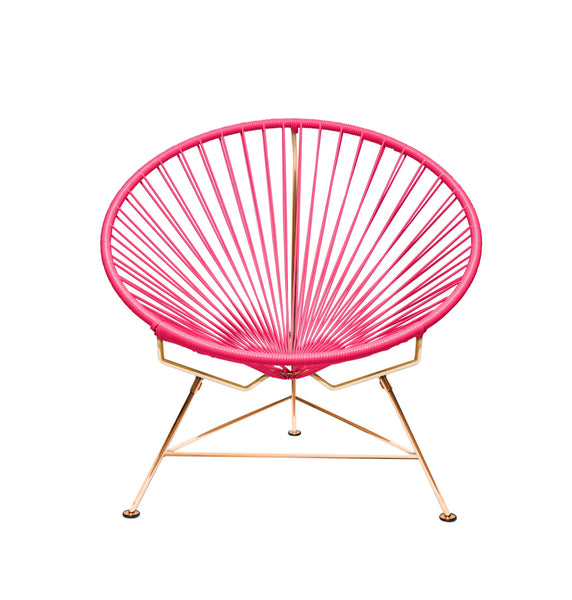 Outdoor Lounge Chair Pink Weave on Copper Frame Innit Chair on Copper Frame
