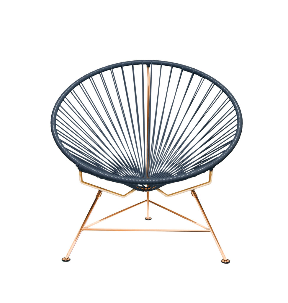 Outdoor Lounge Chair Grey Weave on Copper Frame Innit Chair on Copper Frame