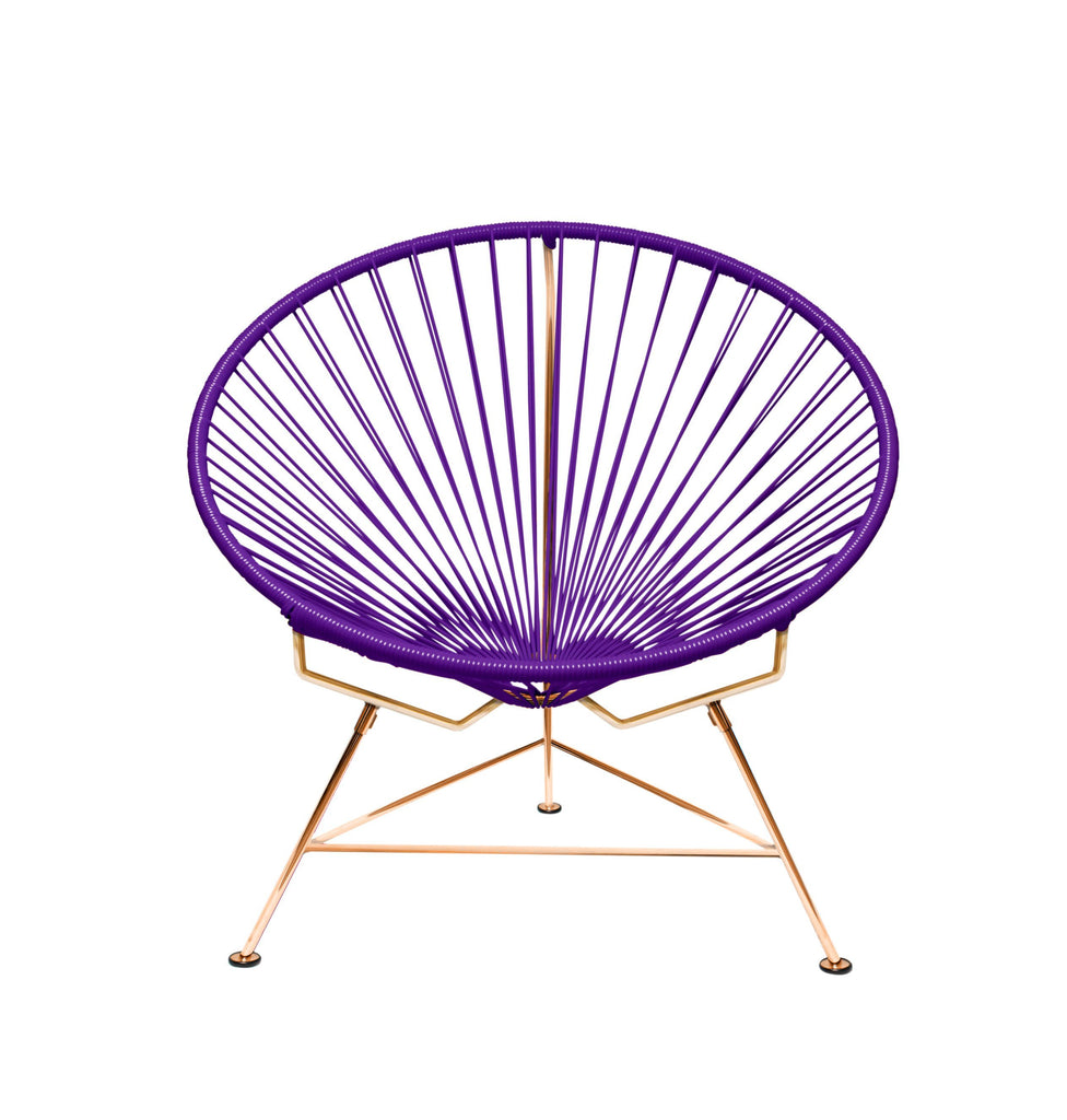 Outdoor Lounge Chair Purple Weave on Copper Frame Innit Chair on Copper Frame