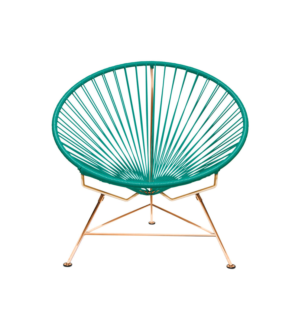 Outdoor Lounge Chair Turquoise Weave on Copper Frame Innit Chair on Copper Frame